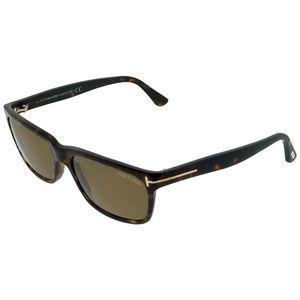 FT0337-56J Hugh Men's Havana Frame Sunglasses